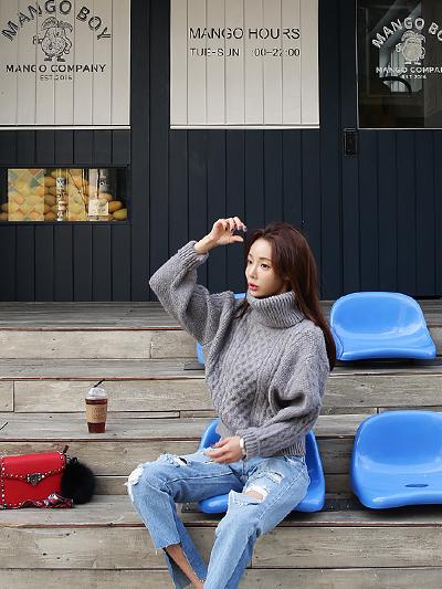 꽈배기폴라-knit