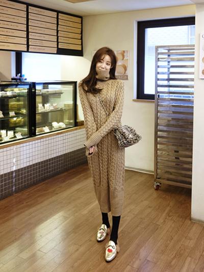 꽈배기롱니트-knit